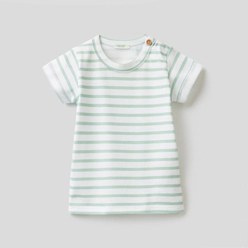 T-Shirt mit Print aus reiner Baumwolle