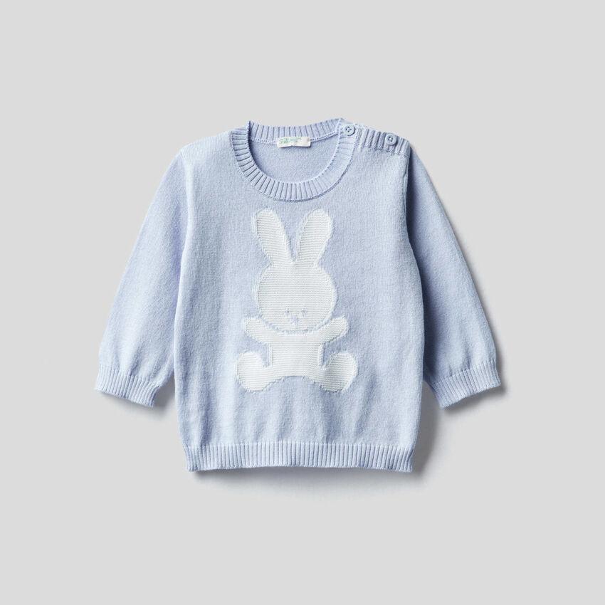 Pullover aus 100% Baumwolle mit Intransienarbeit
