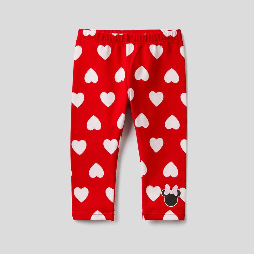Rote Leggings mit Disney-Print