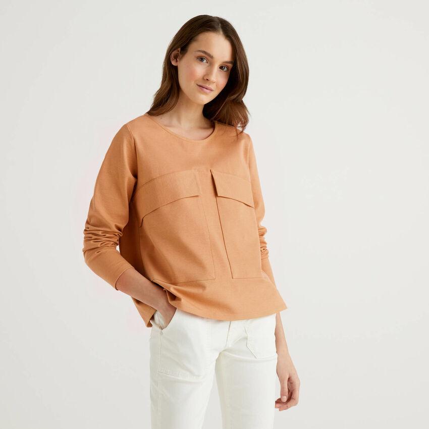 Boxy-Sweatshirt mit Maxi-Taschen