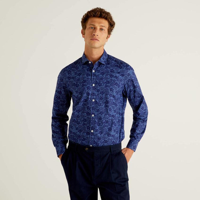 Slim Fit-Hemd mit Musterprint