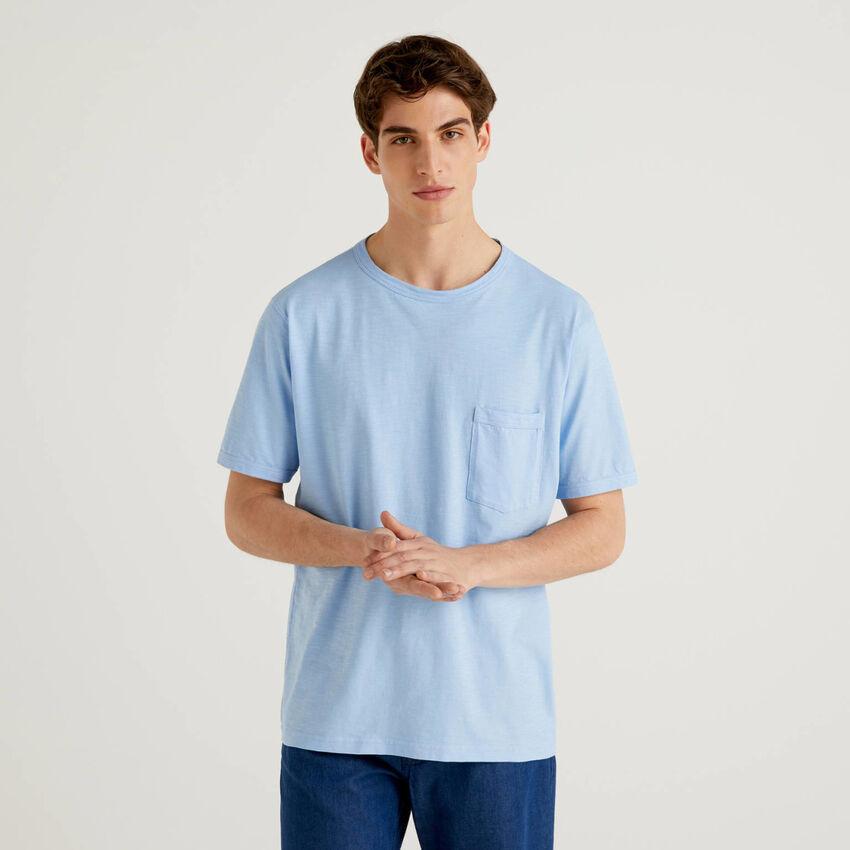 T-Shirt aus Baumwolle mit Tasche