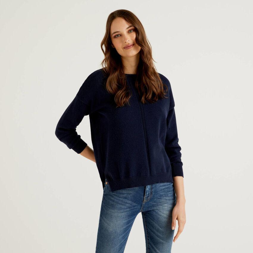Pullover mit vertikalem Motiv