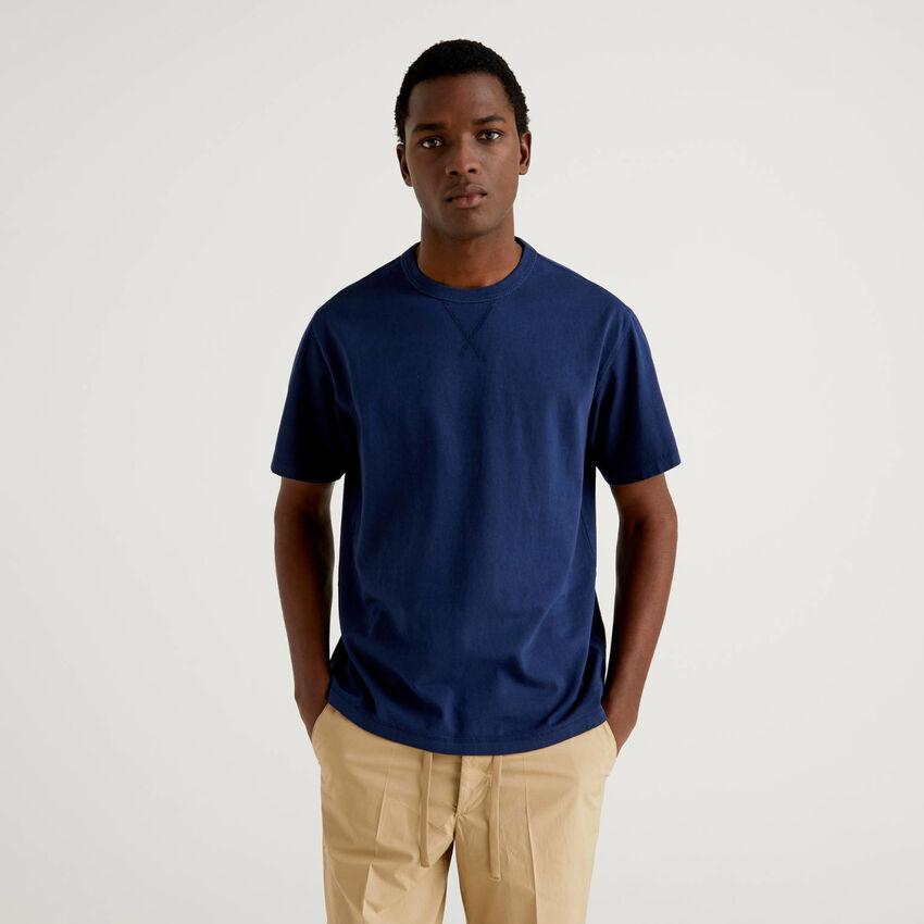 T-Shirt in reiner Baumwolle mit Rundausschnitt