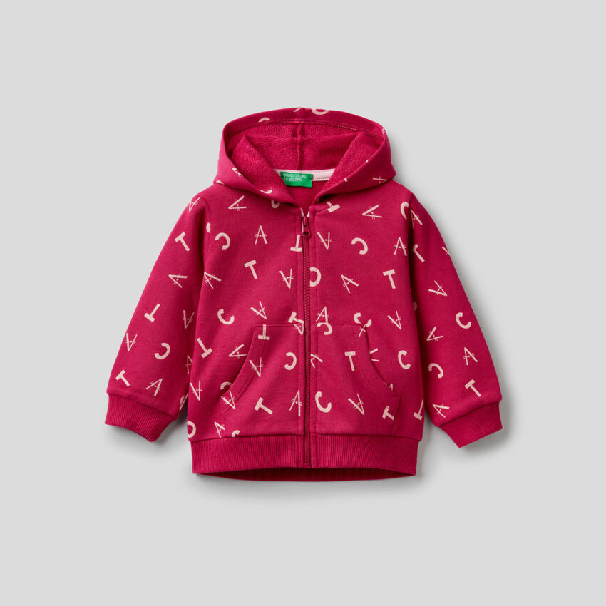 Sweatshirt mit Print und Kapuze